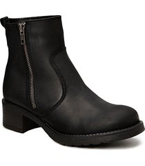 louise wool shoes boots ankle boots ankle boots flat heel svart pavement