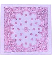 natasha zinko paisley embroidered bandana scarf - purple