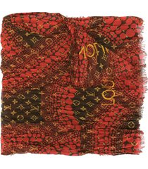 louis vuitton x kusama yayoi pre-owned monogram waves infinity scarf -