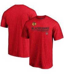 majestic chicago blackhawks men's locker room prime t-shirt