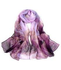 lenço estampado aquarelado artestore echarpe tons feminino