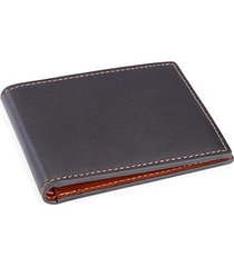 100 step leather bifold wallet