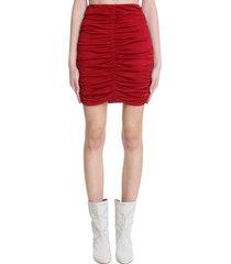 isabel marant doroka skirt in red cotton