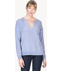lilla p long sleeve split neck sweater
