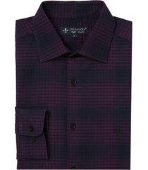 camisa dudalina manga longa jacquard xadrez masculina (xadrez, 6)