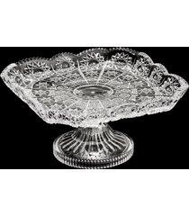 centro de mesa de cristal com pé naas 17x9cm – linha starry