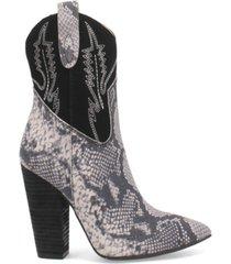 dingo women's calico leather bootie women's shoes