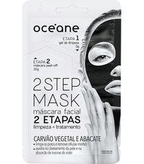 máscara facial 2 step carvão 13g - océane único