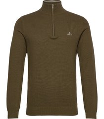 cotton pique half zip knitwear half zip jumpers grön gant