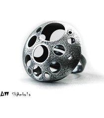 pierścionek srebrny awangardowy silver planet ii