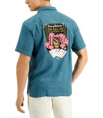 tommy bahama men's i'm all in back graphic silk shirt