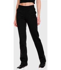 pantalón de buzo everlast basic casual two negro - calce regular