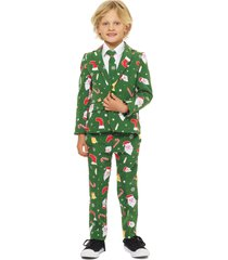 boy's opposuits santaboss two-piece suit with tie