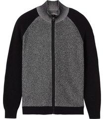 suéter con cierre twisted yard negro calvin klein