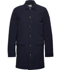 eric maccoat trenchcoat lange jas blauw les deux