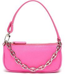 'mini rachel' grained leather shoulder bag