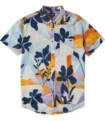 men's sundays floral short sleeve shirt