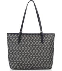 lancaster paris designer handbags, ikon coated canvas tote bag