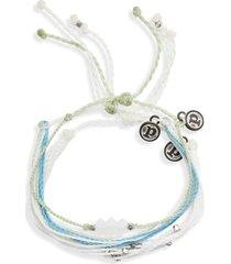 women's pura vida mental health awareness 3-pack string bracelets