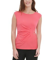 calvin klein side-buckle sleeveless top