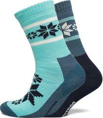 rusa wool sock 2pk lingerie socks regular socks blå kari traa