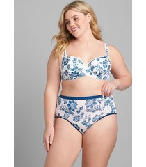 lane bryant women's smooth lightly lined balconette bra 34k bright heritage floral