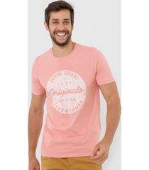 camiseta jack & jones logo rosa