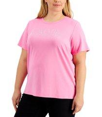 calvin klein plus size studded logo t-shirt