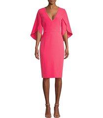jana flutter-sleeve sheath dress