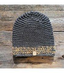 czapka #biały #żółty #szary #melanż