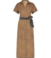 aaiko ande dotprint dress sand&black