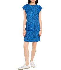 women's vince camuto animal shift dress, size large - blue