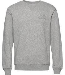 new standard crewneck emb sweat-shirt trui grijs mads nørgaard