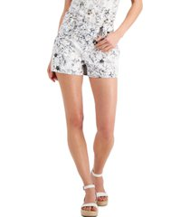 inc floral-print bengaline shorts, created for macy's