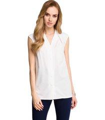 blouse be b102 open blazer van katoen-blend - rood