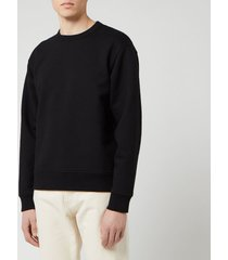 acne studios men's fate pink label sweatshirt - black - xl