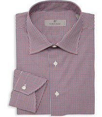 modern-fit checkered dress shirt