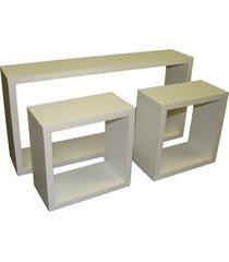 conjunto 3pçs nichos organibox