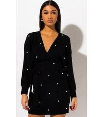 akira love me like you do pearl sweater dress