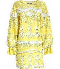 icing print catwalk dress