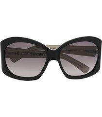 10 corso como oversized-frame sunglasses - black