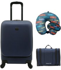 travelers club alise collection 4-piece hard-side carry-on set
