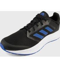 tenis running negro-azul adidas performance galaxy 5