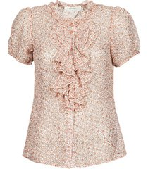 blouse cream kinia ss blouse