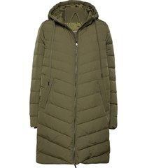 down coat gevoerde lange jas groen ilse jacobsen