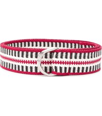 isabel marant nyess woven d-ring belt - red