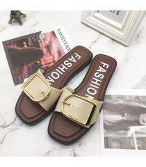 hebilla cuadrada zapatillas mujer 2019 verano pvc plástico sandalias