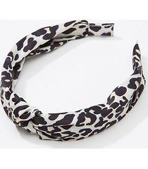 loft leopard print top knot headband