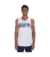 camiseta regata fatal estampada 25192 - masculina