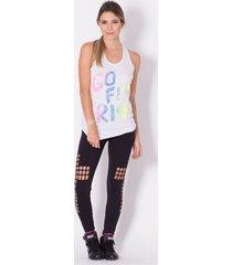 calça legging fitness go fit rio laser cruz